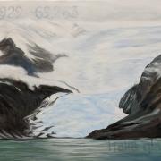 "Lola Chaisson's ""Italia Glacier"" (2021). Acrylic on canvas."